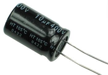 10 µF 400 V/DC